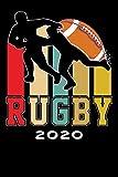 Terminkalender 2020: Rugby Terminkalender und Tagesplaner ca DIN A5 farbig   376 Seiten   1 Seite pro Tag   Football   Tackle