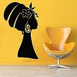BFMBCH Afrikanische schönheit frau kopftuch wandaufkleber dekorative schönheitssalon vinyl für...