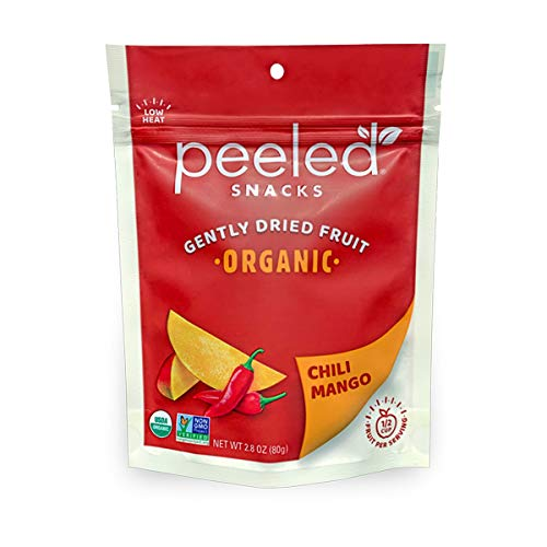 Peeled Snacks Organic Dried Fruit, Chili Mango, 2.8 Ounce
