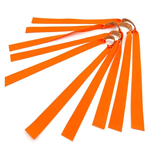 Bebliss 10pcs / lot Tirachinas Potente banda de goma plana elástica Práctica Deportes de caza Kit de catapulta de látex natural Set Tirachinas Resiliente Tubo Accesorios