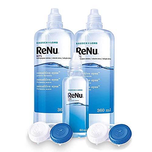 Bausch & Lomb ReNu MPS Pflegemittel für weiche Kontaktlinsen, Bigbox 2x 360 ml + 60ml - 4