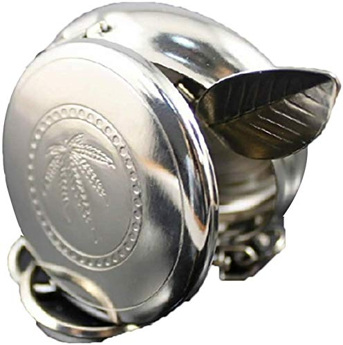AMITD draagbare zakzakbeker met ronde sleutelhanger winddichte sigarettenhouder van roestvrij staal voor buiten mini smoke tool