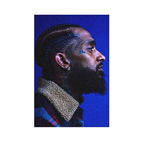 Rapper Nipsey Hussle Canvas Poster Wall Art Decor Print Picture Paintings for Living Room Bedroom Decoration 20×30inch(50×75cm) Unframe: