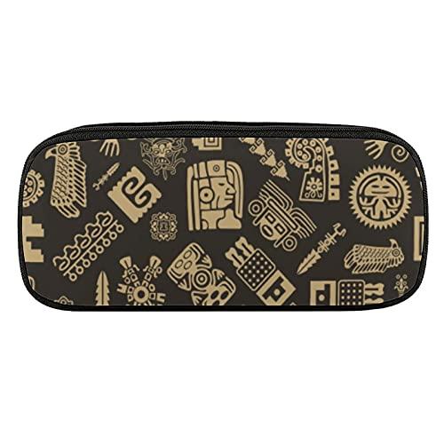Maya - Astuccio portapenne con motivo senza cuciture, grande capacità, in 3D, per adolescenti e ragazze e ragazzi