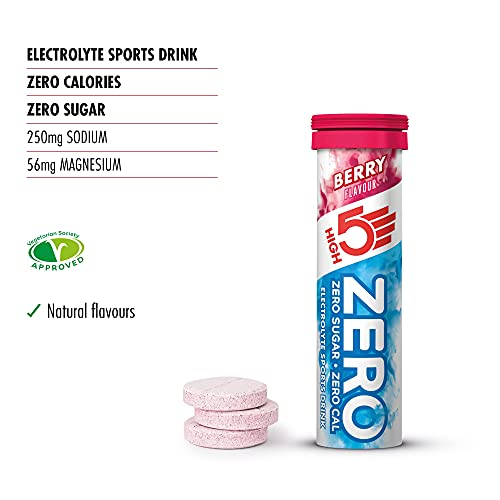 HIGH5 Hydration Starter Kit 750ml Sports Water Bottle With ZERO 10 Tab Berry Hydration Tablets (750ml)