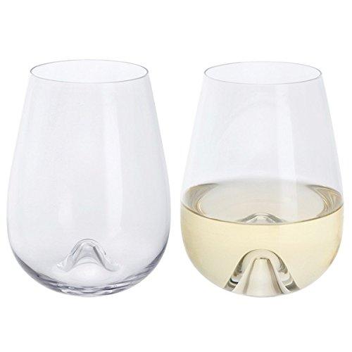 Dartington Crystal - Stemless Crystal Wine Glasses, Set of 2 - Wine & Bar