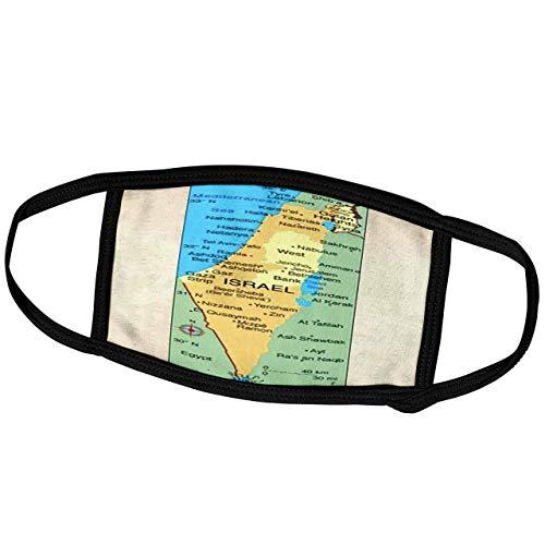 Promini Monatsmaske - Florene Décor II - Landkarte Israel - Staubmaske Outdoor Schutzmaske