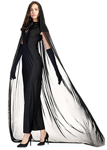 Bigood Costumes Déguisement Cosplay Fantôme Queen Impératrice Adulte pour Halloween XXL