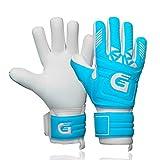 GUARDY - Kinder Torwarthandschuhe - Haltbare Torhüterhandschuhe für Kinder - Tormannhandschuhe mit extra starkem Grip (blau, 6)