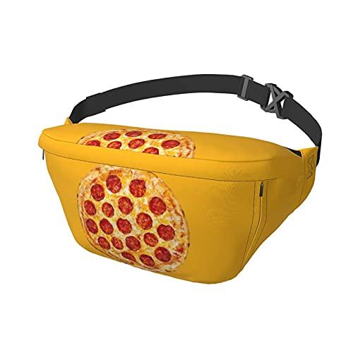 Riñonera Pizza Sling Bag Riñonera Crossbody Mochila de Hombro Bolsos de Pecho Ocasionales Mochila de Cintura