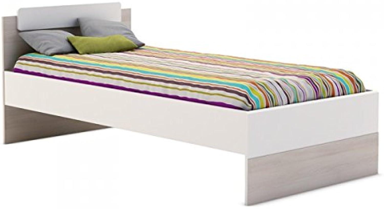 Jugendbett Adam 90190 cm wei Kinderbett Jugendliege Bettliege Bett Holz Gstebett Studenten Jugendzimmer Kinderzimmer