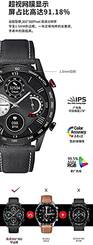 XYJ Smart Watch Business Bluetooth Call Sport Fitness Sleep Monitoring Information Braccialetto per promemoria (Color : E Pay)