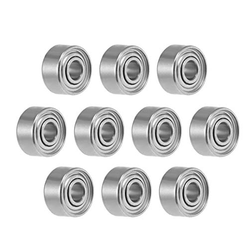 uxcell 681XZZ Deep Groove Ball Bearing 1.5x4x2mm Double Shielded ABEC-3 Bearings 10-Pack