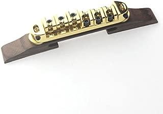 Surfing Archtop JAZZ Guitar Tailpiece Bridge w/Gold Roller Saddles