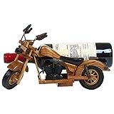 YJThjj Wall Rack Vintage Motocicleta Wine Racks Madera para Mesa  Sostenedor de Botella de Vino  Soporte para Vino rústico para vinoteca Armario para Vino  Organizador de Almacenamiento de