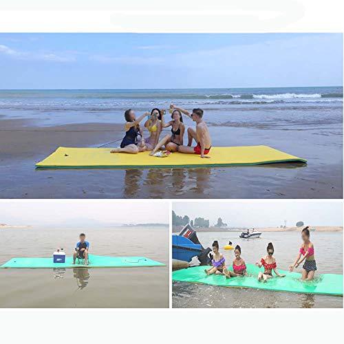 Instag Schwimmendes Wasserbad zur Erholung und Entspannung im Wasser Reißfeste XPE-Schaum-Schwimmmatte für den Pool Strand Ocean Lake
