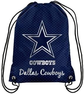 FOCO Womens Dallas Cowboys Womens Metallic Drawstring Backpack BPNFDSWMMTL, Team Color, OS