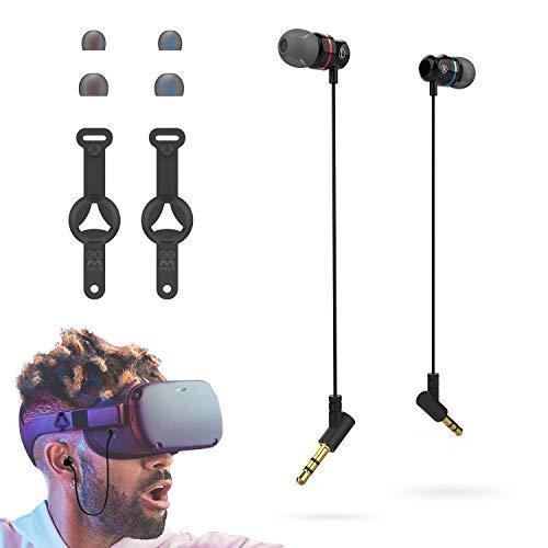 AMVR Noise Isolating Earbuds-Ohrhörer speziell für das Oculus Quest 1 VR-Headset mit 3D-In-Ear-Kopfhörern mit 360-Grad-So& & Silikonhaltern für Kopfhörer (1 Paar)