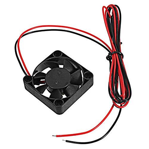 ZJF Componentes de la computadora Accesorios eléctrico 40 * 40 * 10 mm 12V de Alta Velocidad Corriente Continua Ventilador de enfriamiento sin escobillas 4010 para Impresora 3D CR-10