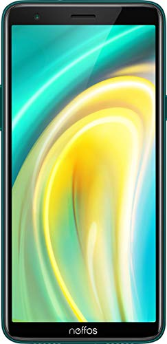 Neffos A5 Dual-SIM Smartphone (15,2 cm (5,99 Zoll) HD+ Display, 16 GB interner Speicher, 5 MP Kamera, Android 9.0 Go-Edition) Emerald Green