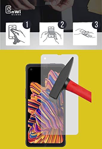 EnWi   2X Panzer-Glas-Folie 9H Bildschirm-Schutz-Folie für Samsung Galaxy XCover Pro