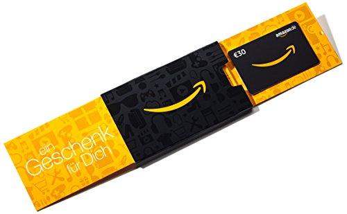 Amazon.de Geschenkkarte in Geschenkschuber - 30 EUR (Amazon)
