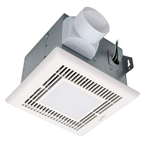 Luvoni 70 CFM Bathroom Exhaust and Ventilation Fan with Light, 2 Sones Quiet Operation, Ceiling Fan with Built in LED Light, White Grill, by Maxxima