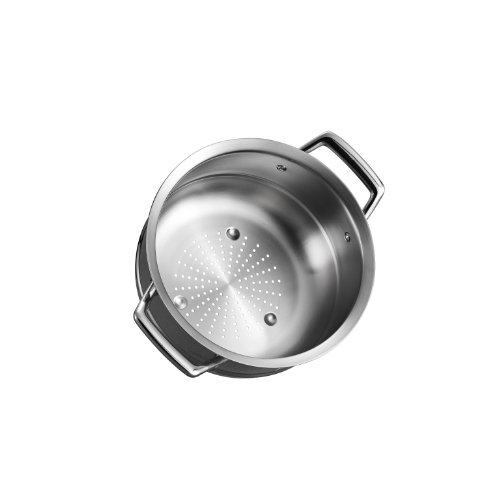 Tramontina 80101/018DS Gourmet Prima Stainless Steel Steamer Insert (24cm - Fits 5 qt Dutch Oven, 6 Qt Sauce Pot & 8 Qt Stock Pot), 10 inch, Made in Brazil