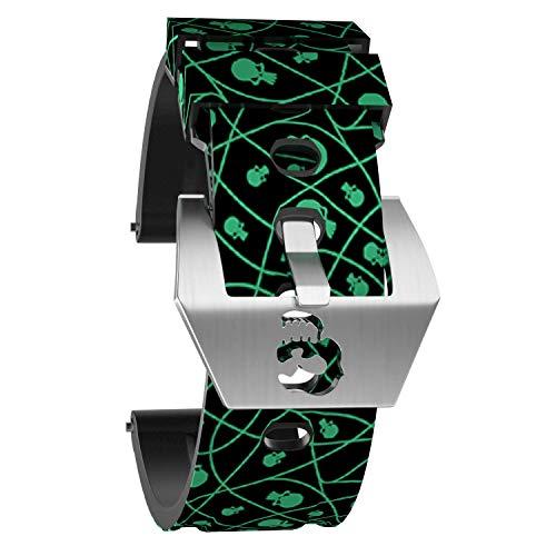 OLLREAR Silicona Correa Reloj Recambios Correa Relojes Caucho Suave for Panerai - 6 Colors & 4 Sizes - 20mm, 22mm, 24mm, 26mm (26mm, De Color Verde Oscuro)