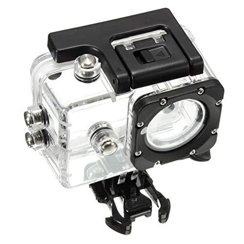 Justdodo SJ4000 Accesorios de Buceo Impermeables para Montar en cáscara SJ4000 Accesorios para cámara Deportiva a Prueba de Agua Material de PC - Transparente