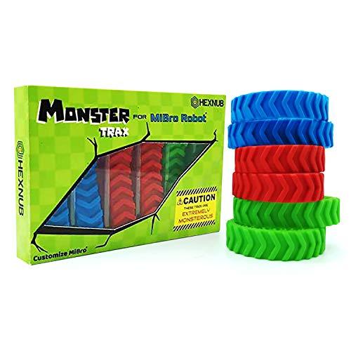 Hexnub Monster Trax para Mibro Really RAD Robots Banda de Rodadura Extragrande Todoterreno Juguete niños Accesorio 3 Colores Impresionantes para Mibro Robots teledirigidos Control Remoto Juguetes