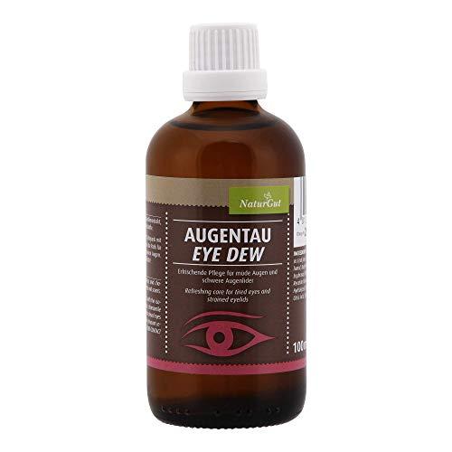 Augentau- erfrischende Pflege für das Augenlid - Augenpflege 100ml Mit Aloe Vera, Augentrost- und Kamillenextrakt, ohne synthetische Farb und Duftstoffe