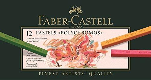 Faber-Castell Künstlerpastellkreide Polychromos 12 Farben Sortiert im Kartonetui