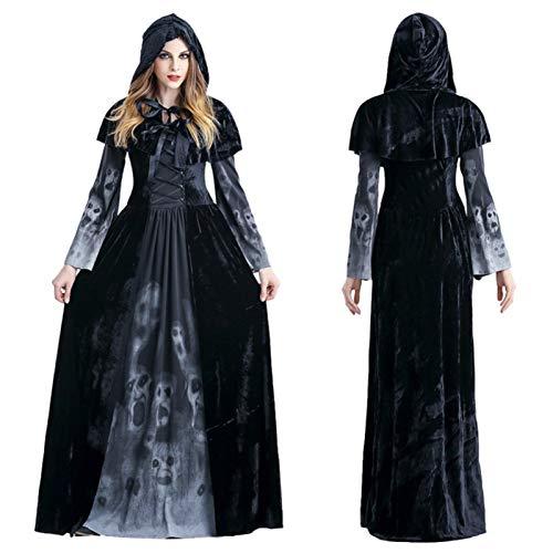 Dewdropy - Capa con capucha para adulto 2020, Halloween, Halloween, bruja con capucha