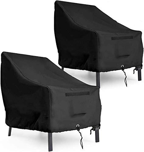AngLink Coperture per Sedie da Giardino x 2, 90 x 97 x 80 cm 600D Oxford Copertura Protettiva per Sedie Impilabili da Esterno Giardino, Telo Protettivo per sedi