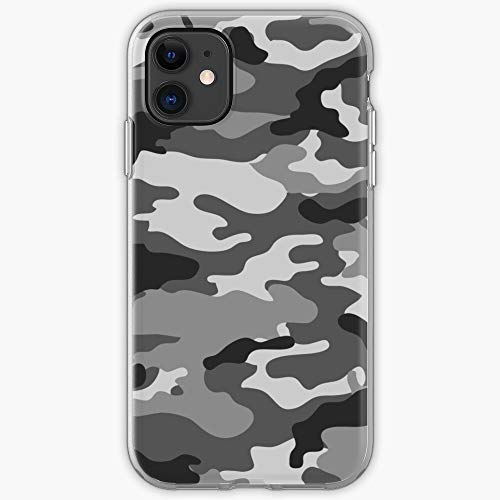 White Black Pattern Grey Camo Gray Cool Camouflage and Phone Case For All iPhone, iPhone 11, iPhone XR, iPhone 7 Plus/8 Plus, Huawei, Samsung Galaxy Illustration Stars Digital Rabbit Cute BU