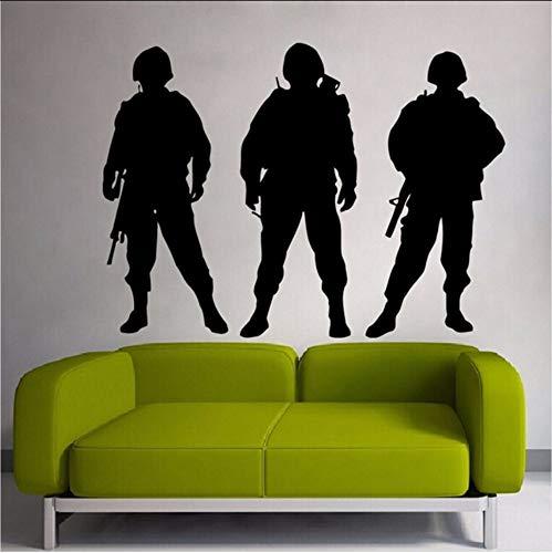 ykxykw Mensen Leger Soldaten Behang Art Decor Muurstickers Voor Kwekerij Kids Kamer Vinyl Muurstickers Thuis Woonkamer Poster 57X78Cm