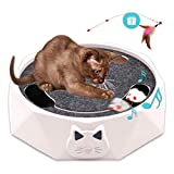 Warmurlife Interactive Cat Toys for Indoor Cats, Electronic Running Squeaky Mice Cat Toy Automatic Kitten Hunting Exercise Toy with Scratching Board for Cats Pets