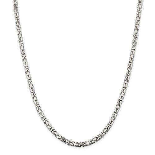 Collar de cadena bizantina de langosta de plata de ley de 4,25 mm, 30 pulgadas para hombres y mujeres