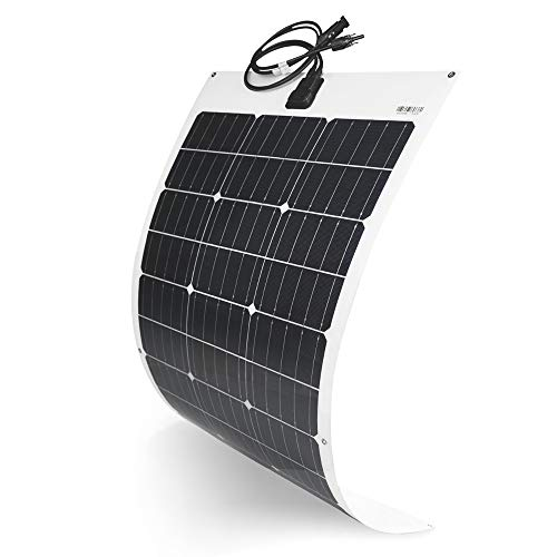 TP-solar Flexible Solar Panel 100W 12V Monocrystalline Bendable - 100 Watt 12Volt Semi-Flexible Mono Solar Panels Charger Off-Grid for RV Boat Cabin Van Car Uneven Surfaces