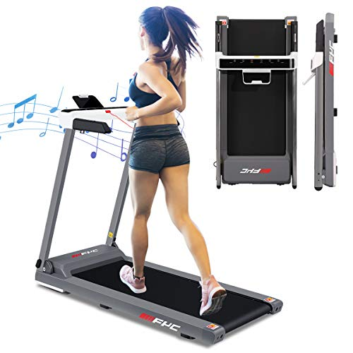 FYC Folding Treadmill for Home Electric Treadmill Exercise Running Machine Portable Compact Treadmill Foldable for Walking Home Gym Fitness Workout Jogging, Free Installation