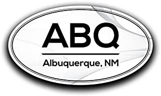 More Shiz ABQ Albuquerque New Mexico Airport Code Decal Sticker Home Travel Car Truck Van Bumper Window Laptop Cup Wall - Two 5.5 Inch Decals - MKS0538