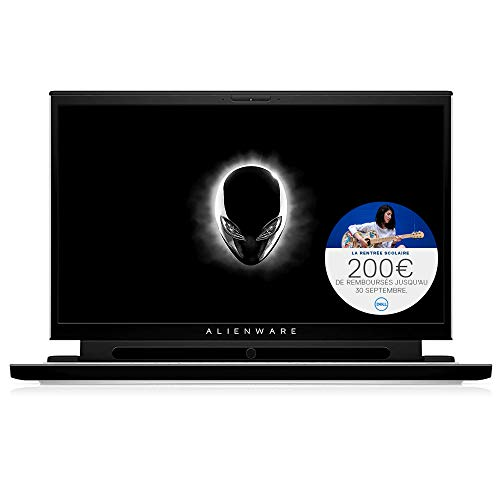 Alienware M15, PC Portable Gamer 15,6' OLED 4K UHD 60Hz 1ms Lunar Light (Intel Core i7, 16Go de RAM, 1To (2 x SSD 512Go), NVIDIA GeForce RTX 2070 Max 8GB, Windows 10 Home) Clavier AZERTY Français