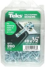 ITW 21376 Teks #10 x 5/8 in. Phillips Pancake Head Self-Drilling Screw, 190-per Pack