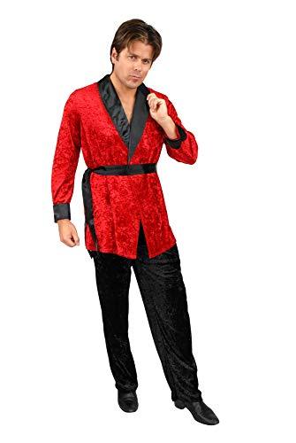 Charades Men's Smoking Jacket, red, Small