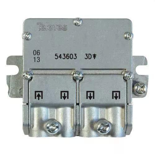 Televes 543603 - Mini Splitter 5 2400mhz easyf 3d 8,5/7,5db
