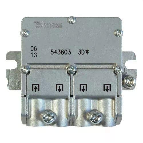 Televes 5451 - Repartidor EMC 1E 3S 543603, Acero Inoxidable