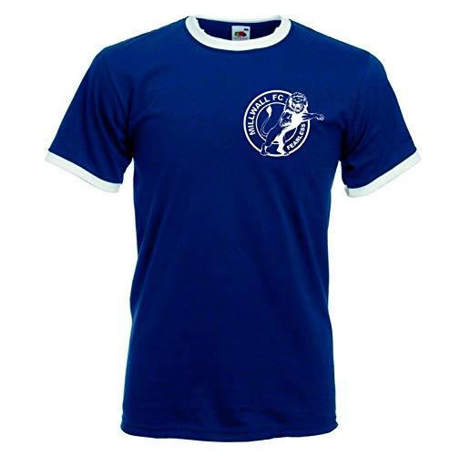 Millwall Fearless FC Fan-T-Shirt, Retro-Football-Club Gr. L, navy