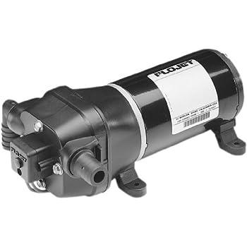 Flojet 1202.1050 04406-143A Quad II Water Pump 'Quiet Quad' - 12V DC, 3.2 GPM,Black