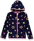 Amazon Essentials Girls' Polar Fleece Full-Zip Hooded Jacket, Navy Stars, XS